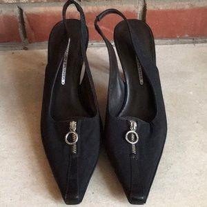Donald J. Pliner Black Michi Slingback heels 9.5